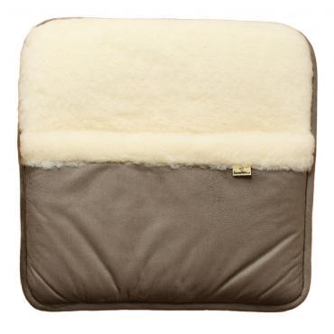 SamWo, 100% reine Schafwolle Fußwärmer velour grau